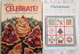 Lot 2 Christmas cookbooks: Wilton Celebrate! Festive Foods Desserts + Co... - $7.56