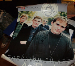 ACCORDING TO JOHN BAND SIGNED 4X A2J  PROMOTIONAL 18X24 POSTER - $27.81