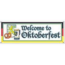 Beistle 57643 Welcome to Oktoberfest Sign Banner, 5-Feet by 21-Inch - $3.47
