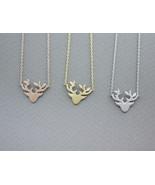 Antler, Elk Deer ,Deer head, Stag ,Reindeer Pendant Necklace in 3 colors - $12.00