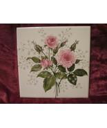 Vintage 6 inch Rose Tile by Wenczel  - $9.99