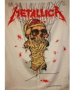 Metallica One Skeleton Cloth Fabric Textile Pos... - $12.85