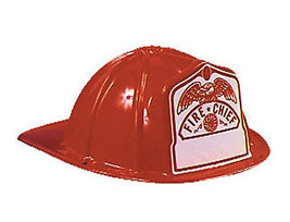 Fireman Hat Child One Size Red - £11.91 GBP
