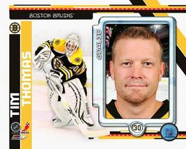 Tim Thomas Boston Bruins P Vintage  8X10 Color Hockey Memorabilia Photo - $4.99