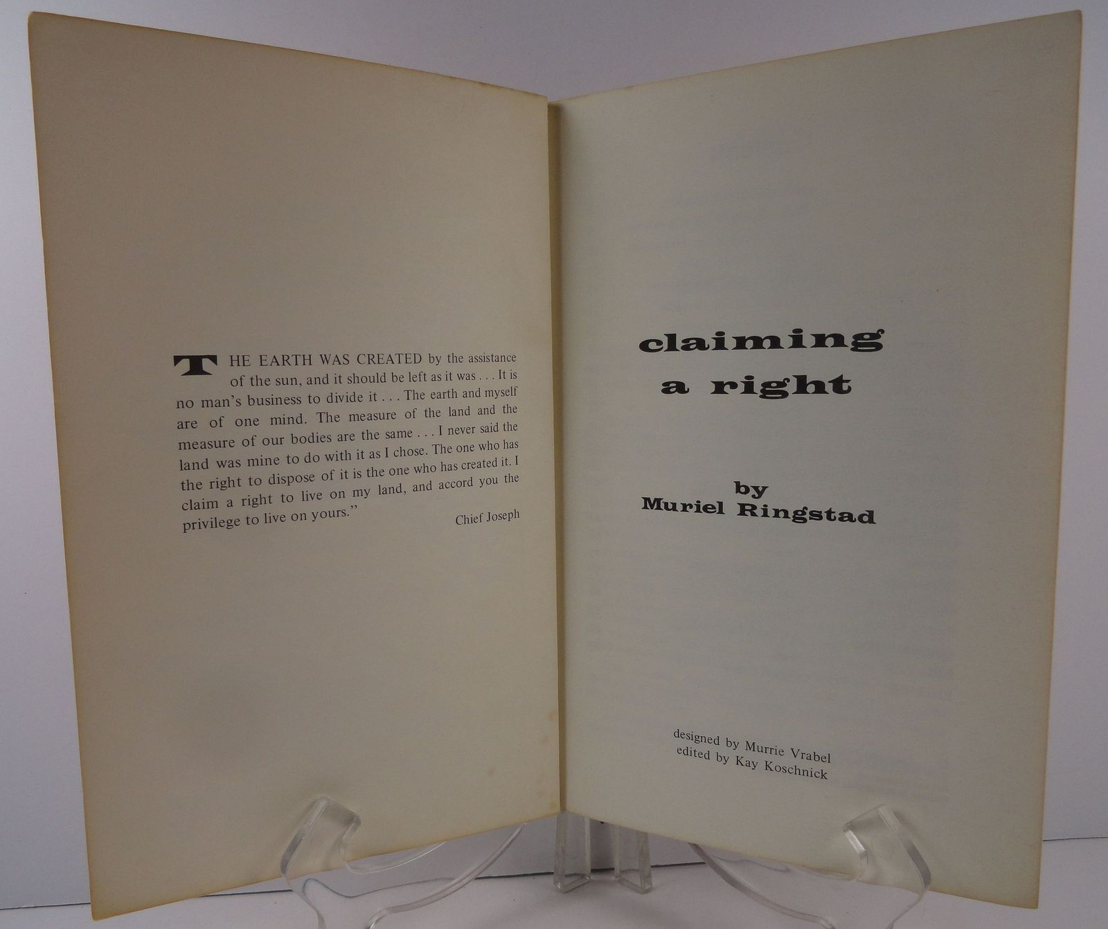 Claiming a Right Stories of  Great American Indians 1972