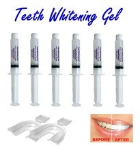 6 Syringes of 35% Teeth Whitening Professional Gel Syringes + FREE 2 Tra... - $11.45