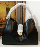 NWT COACH SMOOTH LEATHER CARLYLE SHOULDER BAG GOLD/BLACK F37637 MFSRP $450 - $251.09