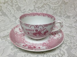 Vintage, Allerton, England, Variant Red Willow  Cup and Saucer - $28.45