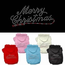 MERRY CHRISTMAS Dog Hoodie Sweatshirt * Rhinestone Puppy Love Pet Sweate... - €14,05 EUR+