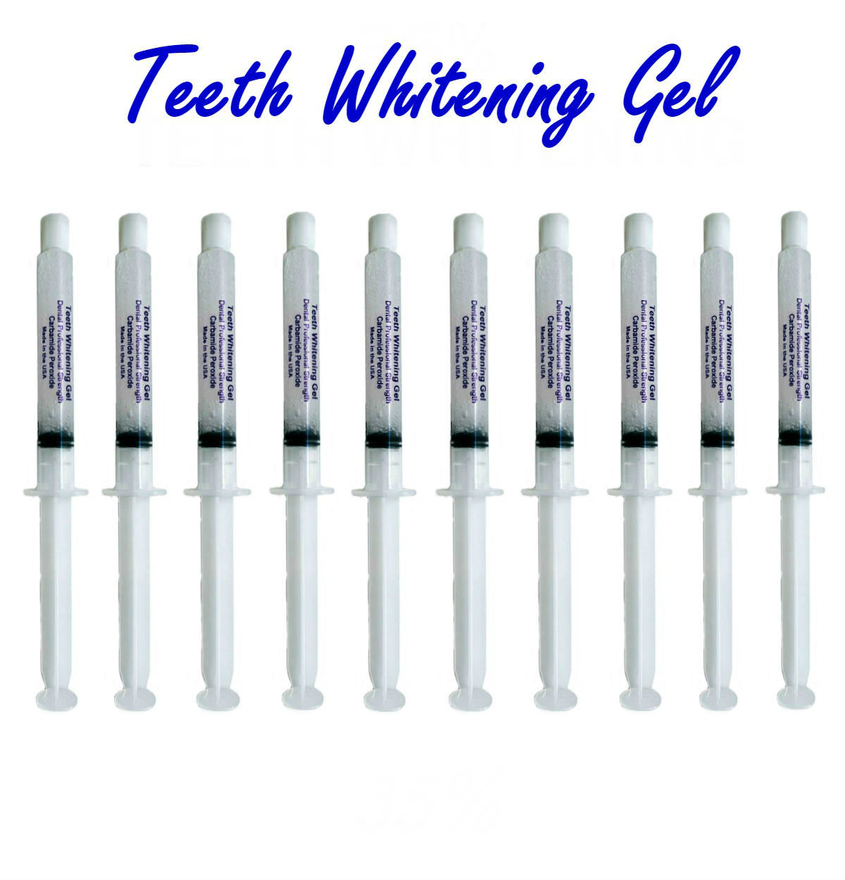 Primary image for 10 Syringes 35% Advanced Teeth Whitening Gel (100 ML) - Professional At Home Kit