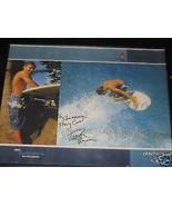 DUSTIN BARCA SIGNED SURFING POSTER FRAMED - $14.90