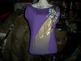 Miss Sixty Adorable Purple Top Size M - $13.86