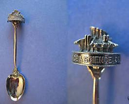 EDMONTON Alberta Souvenir Collector Spoon SPACE SCIENCE CENTRE Figural - $4.95