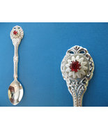 JANUARY BIRTHDAY Souvenir Collector Spoon BIRTH Month RED RUBY Garnet Stone - $6.95