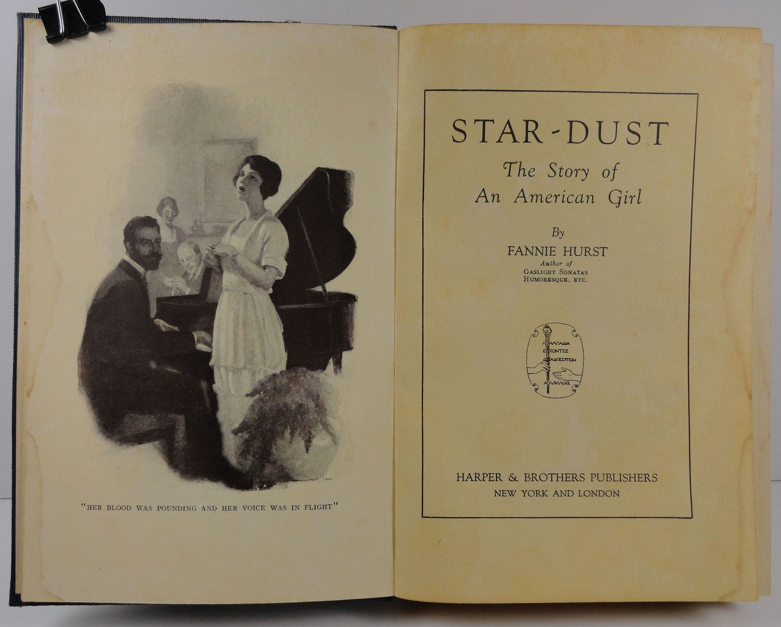 Star Dust The Story of An American Girl by Fannie Hurst 1921