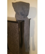 Handmade Crochet Scoodie (Hooded/Scarf)-Gray - $60.00