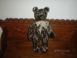 OOAK Canada Artist Handmade Bear Velvet Leopard Print - $144.47