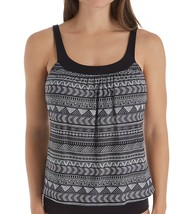 Coco Reef BLACK DOT Pacific Stripe Underwire Tankini Top, US 36D, UK 36D - $42.57