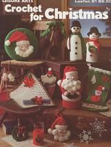 Crochet For Christmas Snowflakes, Santa, Snowmen Pine Cones Pattern Leaflet - $1.77