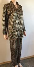 Victoria's Secret Afterhours Two 2 Piece Satin Pajama Set Gold & Black S... - $27.72