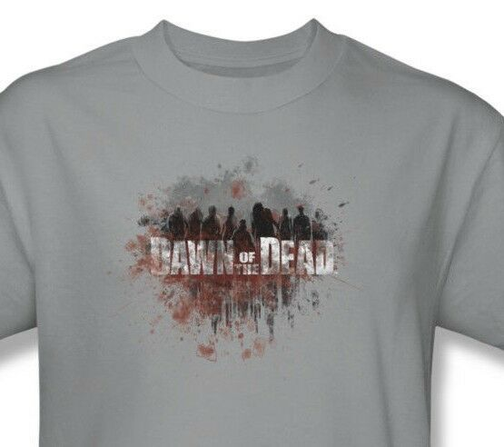 Dawn of Dead T-shirt retro 1970's cotton graphic zombie tee horror movie UNI483