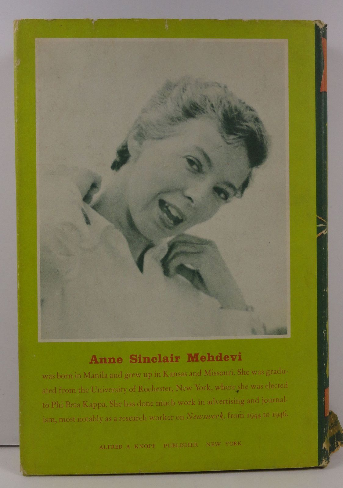 From Pillar to Post by Anne Sinclair Mehdevi 1956 HC/DJ