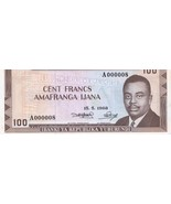 Rare: Burundi 100 Francs 1968 BRB B10 ( Pick 23) UNC Banknote - €420,94 EUR