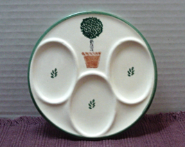 Vintage Round Three Spoon Stenciled Garden Potted Tree Spoon Rest - $10.20