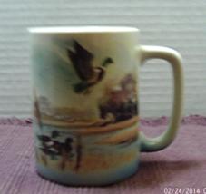 Vintage GIBSON GREETING CARDS Design Mallard Ducks Otagiri JAPAN Coffee Mug - $8.00
