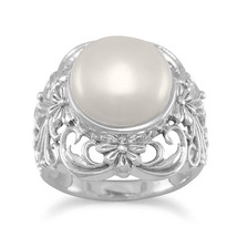 Ornate Cultured Freshwater Pearl Ring - $54.50