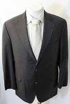 Kane Straith Loro Piana Fabric Zelander 2 Button Pinstripe Sport Coat Bl... - $35.13 CAD