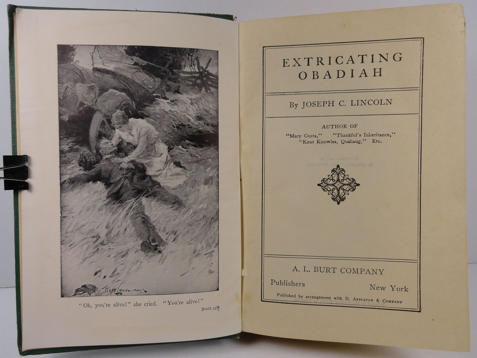 Extricating Obadiah by Joseph C. Lincoln 1917 A. L. Burt