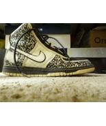 2007 Nike Dunk Hi Premium NOTEBOOK NIKEBOOK WHITE BLACK BLUE Size 6 Y - $38.92