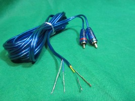 2 Channel Speaker to Gold RCA Amp Receiver Powered Speakers wire Adapter, 8 Ft. - $5.89