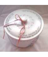 Precious Moments Coevered Candy DishMay your Christmas Be Warm 1987 Rare - $36.99