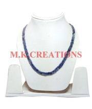 """Natural Shaded Iolite 3-4mm Rondelle Faceted Beads 26"""" Long 2 Strand Nec... - $36.67"""