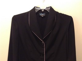 Moving On 100% Polyester Black Button Up Blazer Size 12 image 2