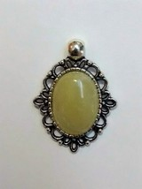 unique chinese olive green serpentine pendant - $9.95