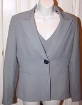 Tahari Arthur S. Levine Petite 2 pc Black White Blazer Jacket V-Neck Shell Sz 8P - $49.99