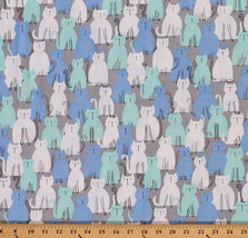Cotton Here Kitty Kitty Cats Animals Cotton Fabric Print by the Yard D48... - $10.95