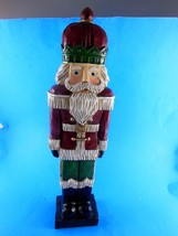 "14"" Toy Soldier Nutcracker style Decoration Wood or Wood Composite - $11.08"