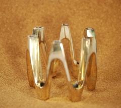 Dansk Silver Plate Crown 12 Taper Candle Holder... - $22.49