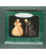 Hallmark Wizard of Oz 2 Witches Christmas Tree Ornaments Resin Miniatures - $22.99