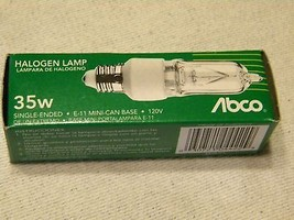 LOT OF 2 ABCO  Single Ended Halogen 35W Clear E-11 Base - $9.88