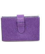 NEW COACH ACCORDION BUSINESS CARD CASE IN EMBOSSED  LEATHER VIOLET 52373 - $44.55