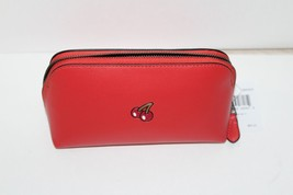 NWT Coach PAC-MAN Cosmetic Case LIMITED EDITION Watermelon  Leather Cher... - $68.31