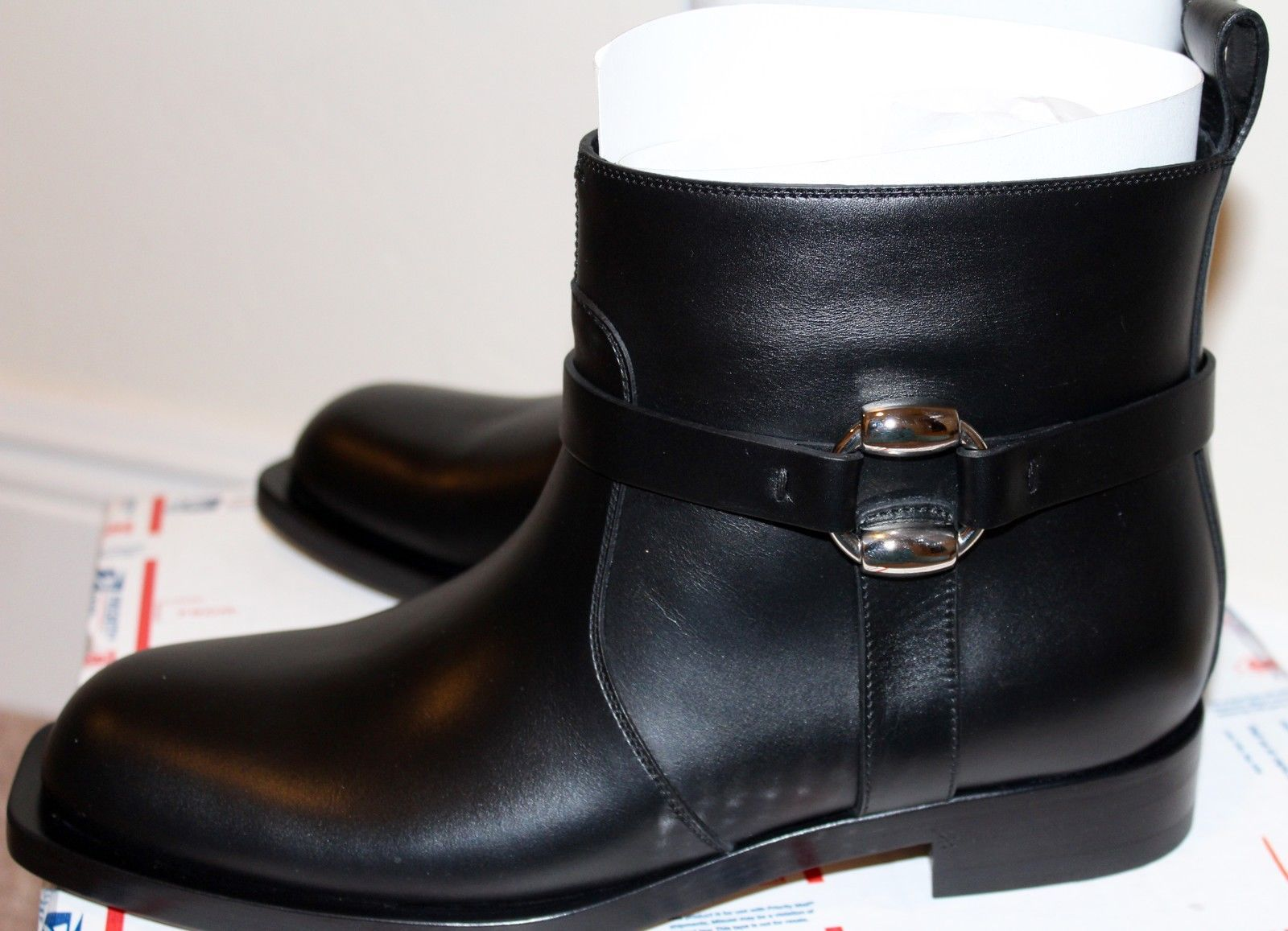 56506d5c281 NIB Gucci Buckle Moto Boots Black Leather and 50 similar items