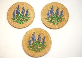 "Sandstone 4"" Round Coasters (3) Cork Back Otigiri Takahashi Retro Style ... - $9.00"