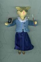 Miss Kitty Teaches Math Christmas Ornament Gift For Teacher Felt Fabric - $6.00