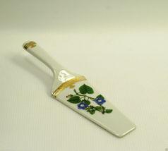 Andrea Sadek Golden Botanical Cake Pie Server Spatula Floral Gold Porcelain - $16.99